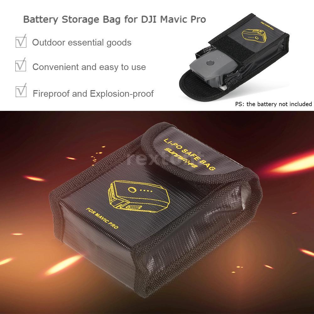 92 Batterie Feuerfeste 125 45mm Tasche FüR DJI Mavic Pro Drohne R5P2